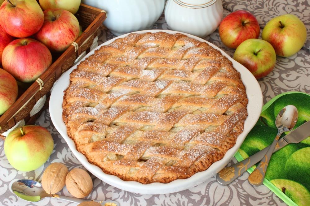 Пирог с яблоками фоторецепт