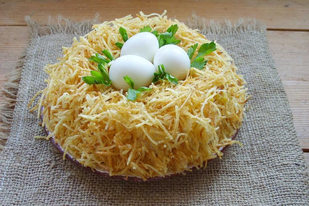 друзья рецепт салата гнездо глухаря классический с фото именно семья должна