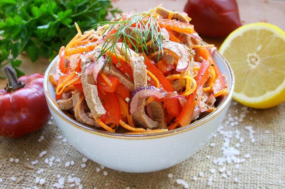 Салаты из сладкого перца рецепты с фото